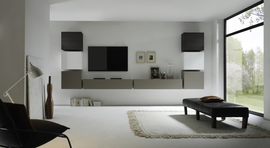 Parete Attrezzata Wengè : TV Storage Combination