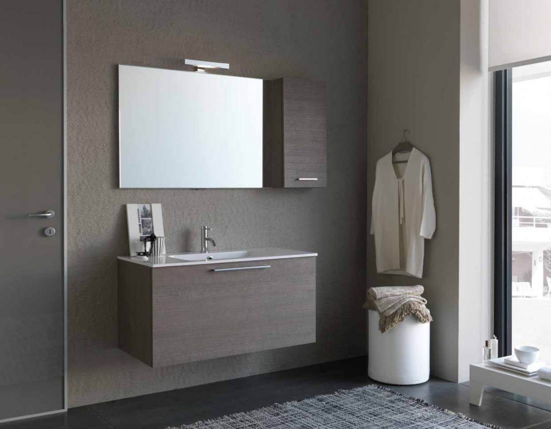Mobile bagno design moderno base lavabo sospesa con for Arredo moderno design