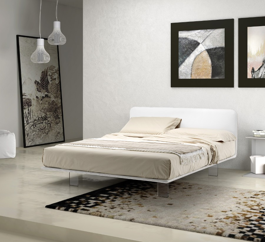 Letto matrimoniale design moderno sfoderabile con piano for Letto a soffitto matrimoniale design