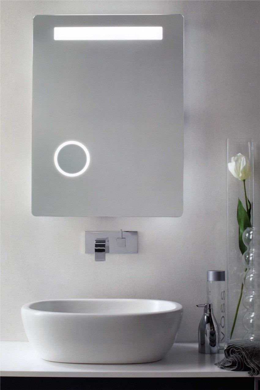 Specchio antiappannamento con ingranditore per make up e - Luci per bagno design ...