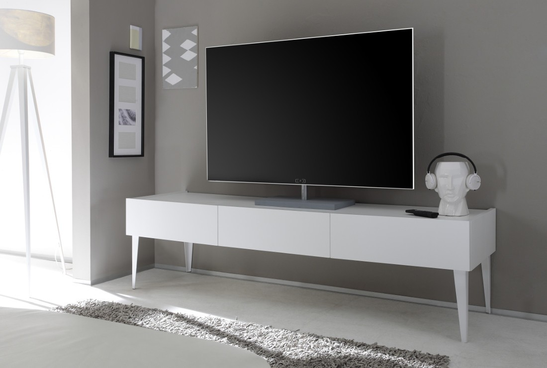 Mobile porta-TV Bianco opaco - art 2854 - Outletarreda