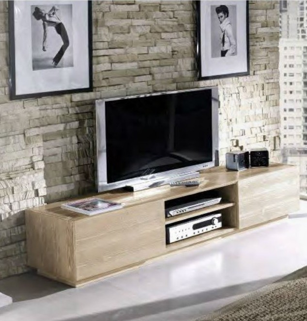 Mobile porta tv 2 ante design made in italy in legno di abete ...