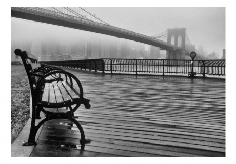 Fotomurale - A Foggy Day on the Brooklyn Bridge