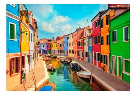 Fotomurale -  Colorful Canal in Burano