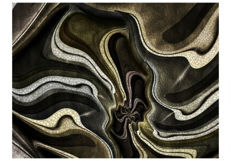 Fotomurale - Green and brown textured fractal