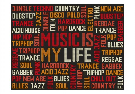 Fotomurale - Music is my life