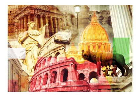 Fotomurale - Roma - collage