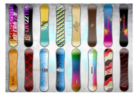 Fotomurale - Snowboard wall