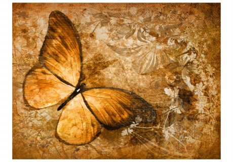 Fotomurale - butterfly (sepia)