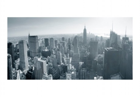 Fotomurale XXL - Panorama di New York in bianco e nero