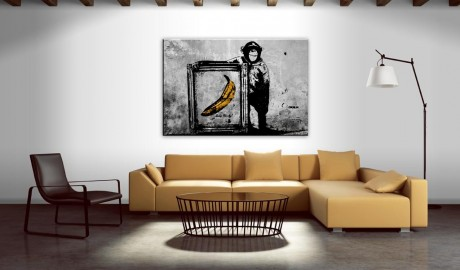 Quadro - Inspired by Banksy - black and white