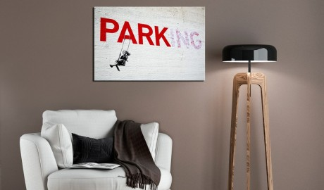 Quadro - Parking Girl Swing by Banksy
