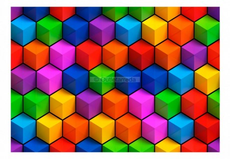 Fotomurale - Colorful Geometric Boxes