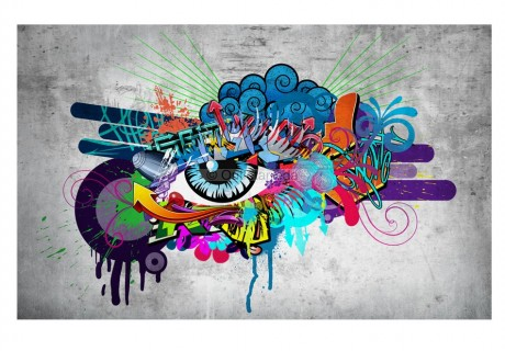 Fotomurale - Graffiti eye