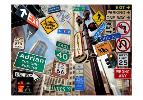 Fotomurale - New York signposts