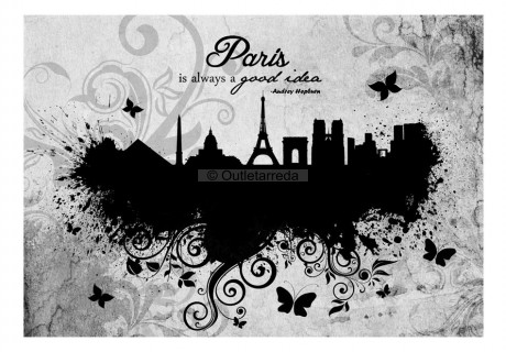 Fotomurale - Paris is always a good idea - black and white