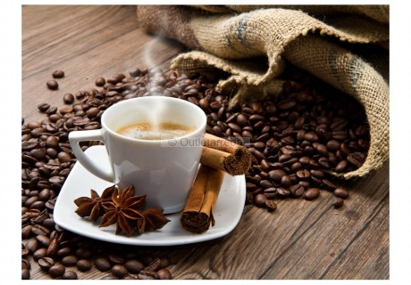 Fotomurale - Star anise coffee