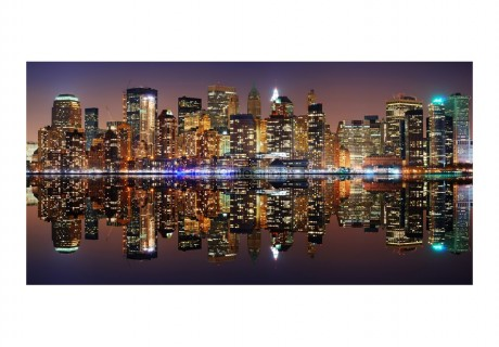Fotomurale XXL - Gold reflections - NYC