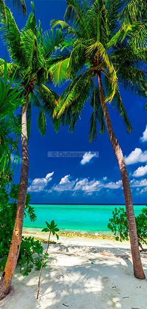 Fotomurale per porta - Photo wallpaper - Island, beach I