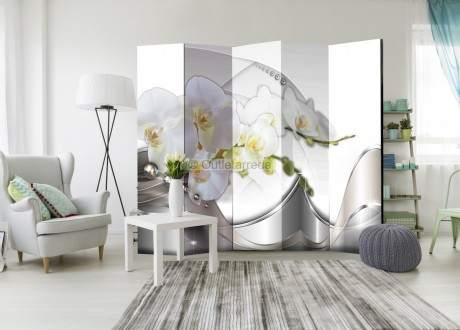 Paravento - Pearl Dance of Orchids II [Room Dividers]