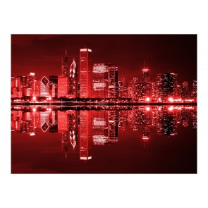 Fotomurale - Chicago in rosso