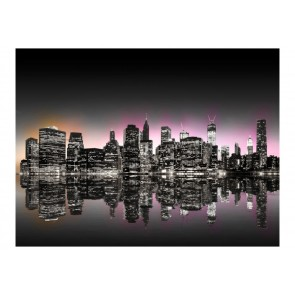 Fotomurale - Colorful glow over NYC