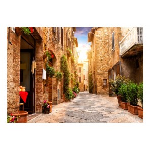 Fotomurale - Colourful Street in Tuscany