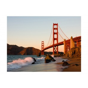 Fotomurale - Il Golden Gate Bridge - tramonto, San Francisco