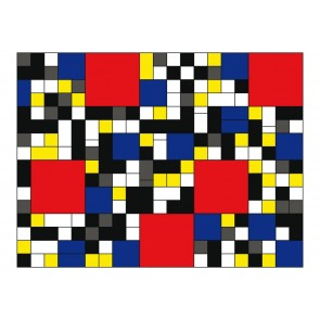 Fotomurale - Inspired by Piet Mondrian