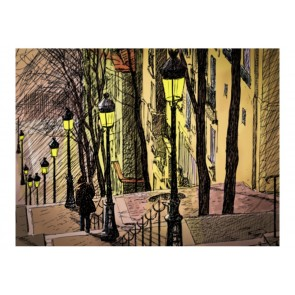 Fotomurale - Lonely walk through Montmartre