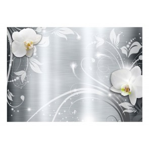 Fotomurale - Orchids on steel