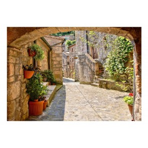 Fotomurale - Provincial alley in Tuscany