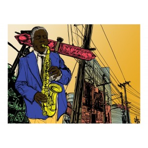 Fotomurale - Saxophonist in New York