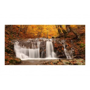 Fotomurale XXL - Autumn landscape: waterfall in forest