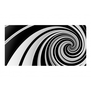 Fotomurale XXL - Black and white swirl