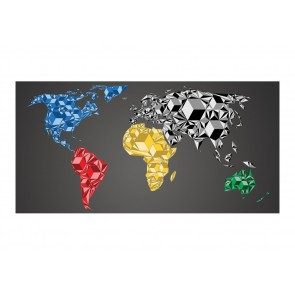 Fotomurale XXL - Map of the World - colorful solids