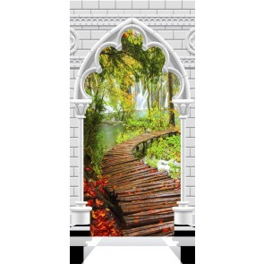 Fotomurale per porta - Photo wallpaper - Gothic arch and path I