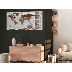 Mappa da grattare - Grey Map - Poster (English Edition)
