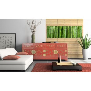 Quadro - Canvas print - Bamboo wall