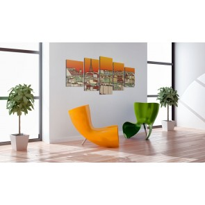 Quadro - Cielo parigino color arancio