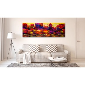 Quadro - Colourful City Skyline