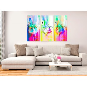 Quadro - Colourful Flamingos (3 Parts)
