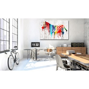 Quadro - Colourful Zebra
