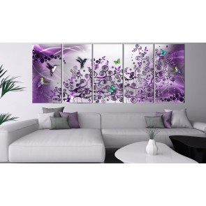 Quadro - Hummingbirds Dance (5 Parts) Violet Narrow