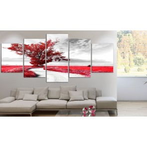 Quadro - Lone Tree (5 Parts) Red