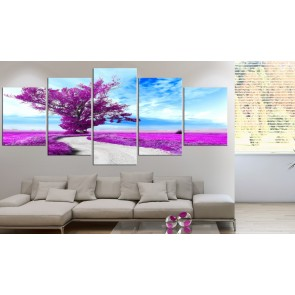Quadro - Lone Tree (5 Parts) Violet