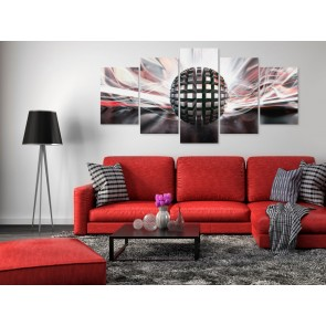 Quadro - Metal Ball (5 Parts) Wide Red