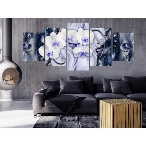 Quadro - Orchid Waterfall (5 Parts) Wide Violet