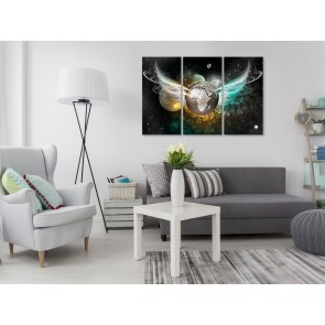 Quadro - Planet of Angels (3 Parts) Green and Golden