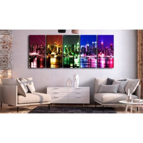 Quadro - Rainbow New York (5 Parts) Narrow